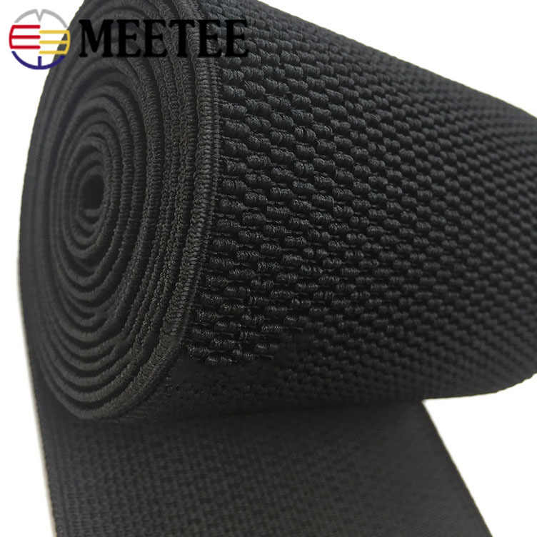 2meter Meetee 2.5-10cm Crochet Elastic Band Waistband Rubber Polyester Webbing DIY Clothing Garment Belt Trim Sewing Accessories