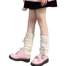 Japanese Style Women Girls Knitted Leg Warmers Cover Harajuku Student Autumn Casual Loose Stockings Lolita Kawaii Crochet 094B