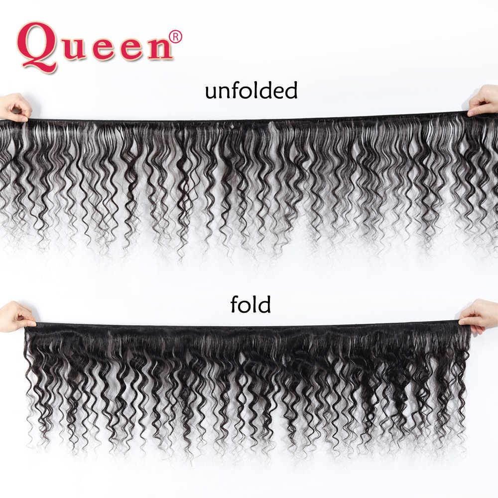 Queen Hair Allentato Profondo Più Onda Brasiliana Fasci Del Tessuto Dei Capelli Umani di Remy di Estensioni Dei Capelli di Tessitura Può Comprare 3 Bundle Con Chiusura
