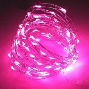 Led-String-Lights Battery Silver-Wire-Garland Party-Decoration Leds Powered Christmas