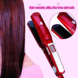 Profesjonalna prostownica do włosów lokówki do włosów żelazka wyświetlacz LED szybka prostownica do włosów szybkie nagrzewanie narzędzia do stylizacji włosów null    -