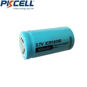 Image 3 - 2 szt. PKCELL ICR 18350 akumulator litowo jonowy 3.7V 900mAh akumulatory litowo jonowe Bateria Baterias