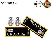 30 sztuk partia VOOPOO UFORCE cewka dla Voopoo przeciągnij zestaw Voopoo przeciągnij zestaw mini Atomizer rdzeń U2 U4 U6 U8 N1 N2 N3 R1 D4 P2 Mesh spirala grzejna tanie tanio Voopoo Uforce Coil DS Dual VOOPOO Drag 2 Drag Mini Kit rated for 40-80W rated for 50-120W rated for 65-110W rated for 70-130W