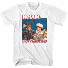 OFFICIAL WHAM New T SHIRT George Michael Last Christmas in SIZES SM - 5XL Round Collar Short Sleeve Tee Shirts top tee