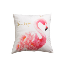 fashionable home dec flamingo cushion covers 45*45cm no inner golden hot stamping pink for chair X37