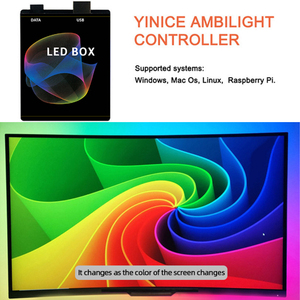 5v diy ambiente tv usb led fita hdtv computador monitor backlight pc sonho tela cor caixa de luz para ws2812b sk6812 led strip