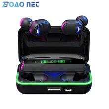 TWS беспроводные наушники 2000 мА/ч Bluetooth V5.1 HiFi стереонаушники водонепроницаемые наушники с 3 светодиодный ными дисплеями Спортивные Беспровод...