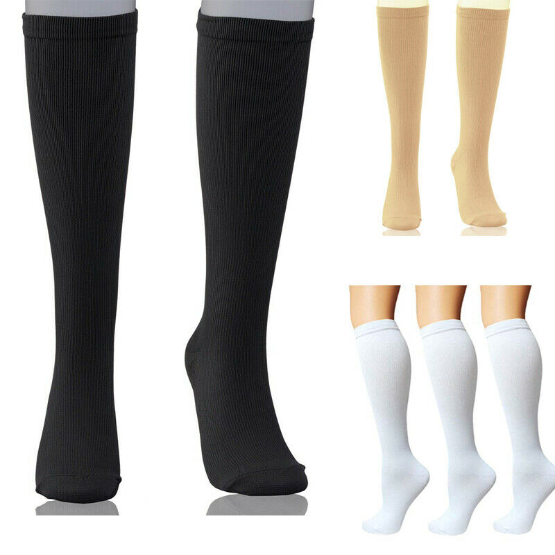 Compression Socks Support Stockings Travel Flight Socks (15-20 MmHg)  Boosts Circulation Socks For Men Women Relax Foot