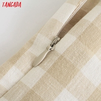 Tangada Women Plaid Print Summer Dress Sleeveless Backless 2021 Summer Fashion Casual Dresses Vestido 4N71 3