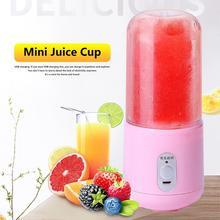 купить 260ml USB Rechargeable Blender Portable Juicer Cup Mixer Smoothie Juice Machine Food Grade GPPS Body Stainless Steel Blader New дешево