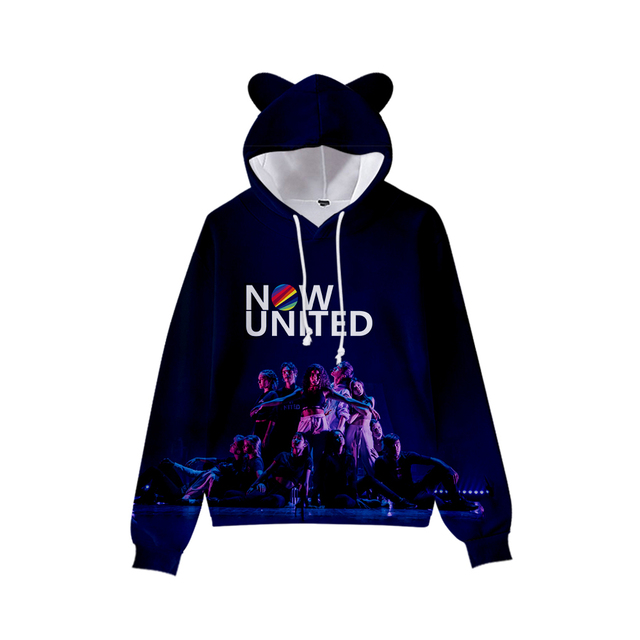 NOW UNITED 3D THEMED CROP TOP EAR HOODIE (10 VARIAN)