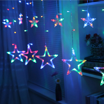 Christmas Fairy Lights LED Star Garland String Lights For Xmas Window Room Indoor Outdoor Decoration Wedding Party Light Lamp 3 5m 220v led moon star lamp christmas garland string lights fairy curtain light outdoor for holiday wedding party decoration