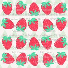 strawberry cute kawaii cartoon polyster Fabric For Baby&Child,Patchwork Cloth, Sewing Quilting Bed Sheet Needlework Materials(China)