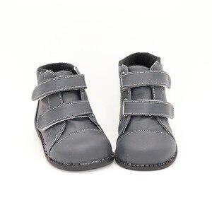 Image 2 - Tipsietoesブランド高品質の革のステッチキッズ子供ソフトブーツ学校の靴男の子2020秋冬雪のファッション