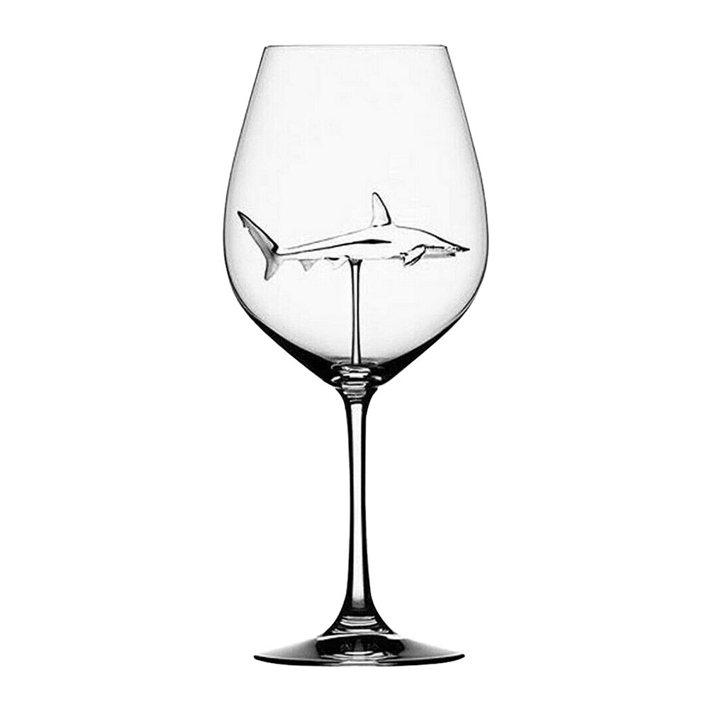 300ml Wine Glasses Cup Shark Red Wine Glass Bottle High Heel Shark Red Wine Whiskey Cup for Drinking Party Supplies