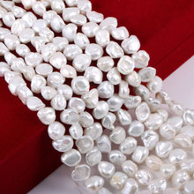 2019 New Wholesale Natural Freshwater Pearls Beads Irregular Shaped 100% for DIY Jewelry Making Necklacee8-12mm
