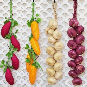 5 реалистичные декоративные пластиковые искусственные фрукты поддельные виноград яблочный перец персик лук Кукуруза граната еда Фотограф...
