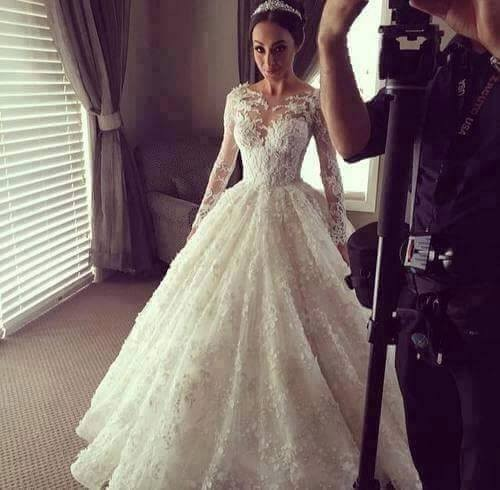 Vestido De Noiva 2018 Robe De Mariee Abendkleider Sexy Appliques Lace Long Sleeves Bridal Gown Mother Of The Bride Dresses