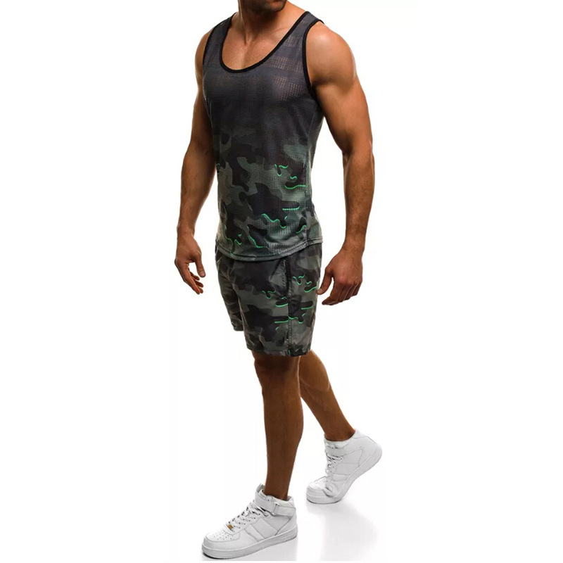 Special For Large Cargo Special Offer 2019 Ouma Summer New Style Fashion Men Casual Sports Camouflage Set