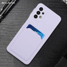 Lüks kart tutucu cüzdan kılıf Samsung Galaxy S21 artı not 20 Ultra S20 FE A52 A72 A12 A42 A51 a71 A32 yumuşak silikon kapak