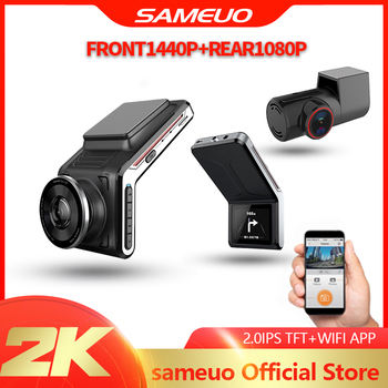 Sameuo U2000 WIFI dash cam 2k front and rear 1080p 2 camera Lens CAR dvr smart car dvrs Auto Night Vision 24H Parking Monitor 1