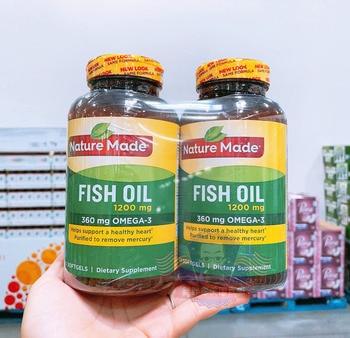 Free shipping 2 bottles fish oil 1200 mg 200 pcs 360 mg Omega-3