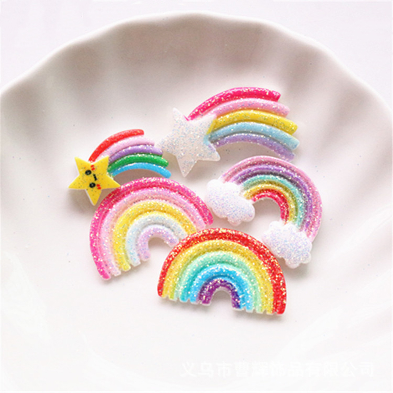 Happy Monkey 10pcs Slime Charms Resin Glitter Rainbow Additives Supplies Accessories DIY Kit For Fluffy Clear Crunchy Slime Clay
