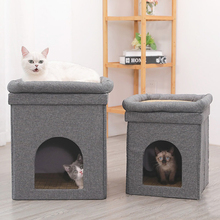 Cat deluxe litter universal cat supplies summer cooler two-story cat house rattan house cat cat villa two-story cat bed