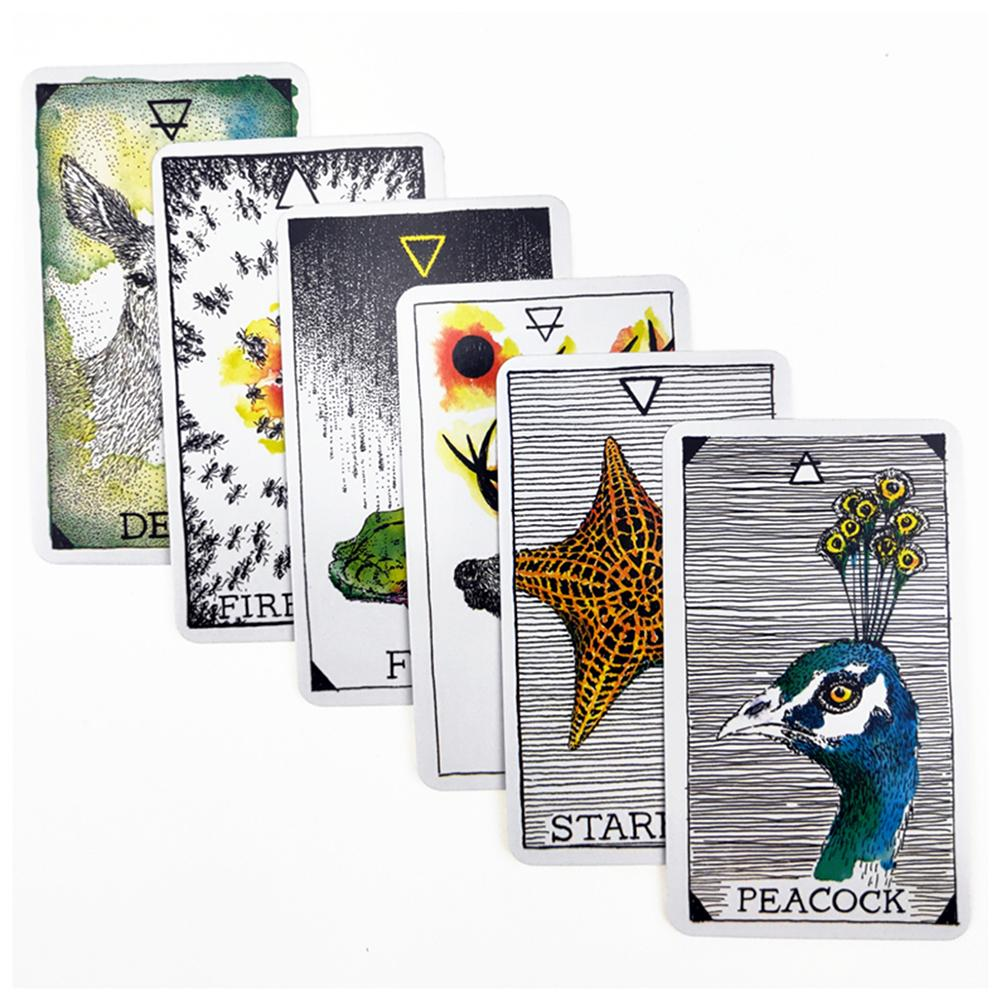 63pcs Tarot Card Animal Spirit Series Full English Tarot Deck Card Game Mysterious Tarot Cards For Party Household Use Guidebook Card Games Aliexpress
