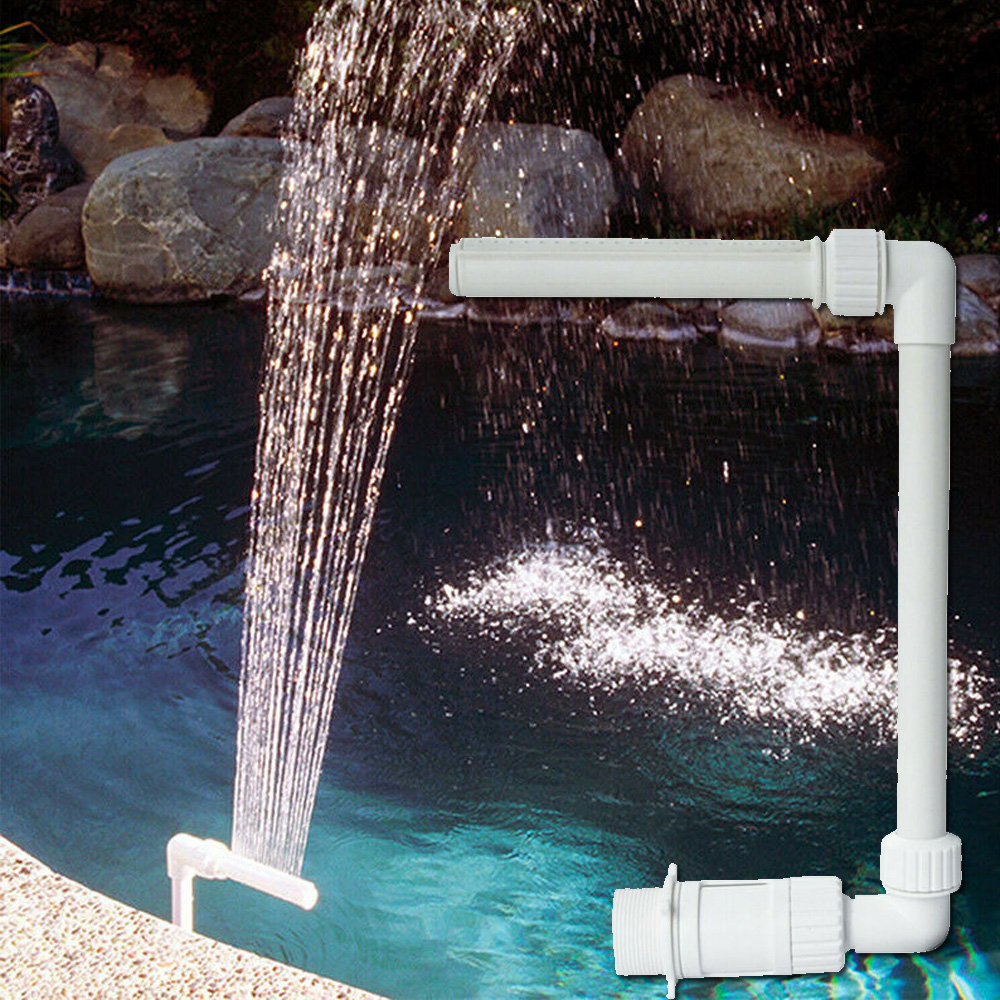Adjustable Pool Fountain Frame Decoration Plastics Waterfall 26*40*19cm White Spray Outdoor Ground Tube