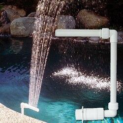 Cachoeira ajustável 26*40*19cm dos plásticos da decoração do quadro da fonte da piscina