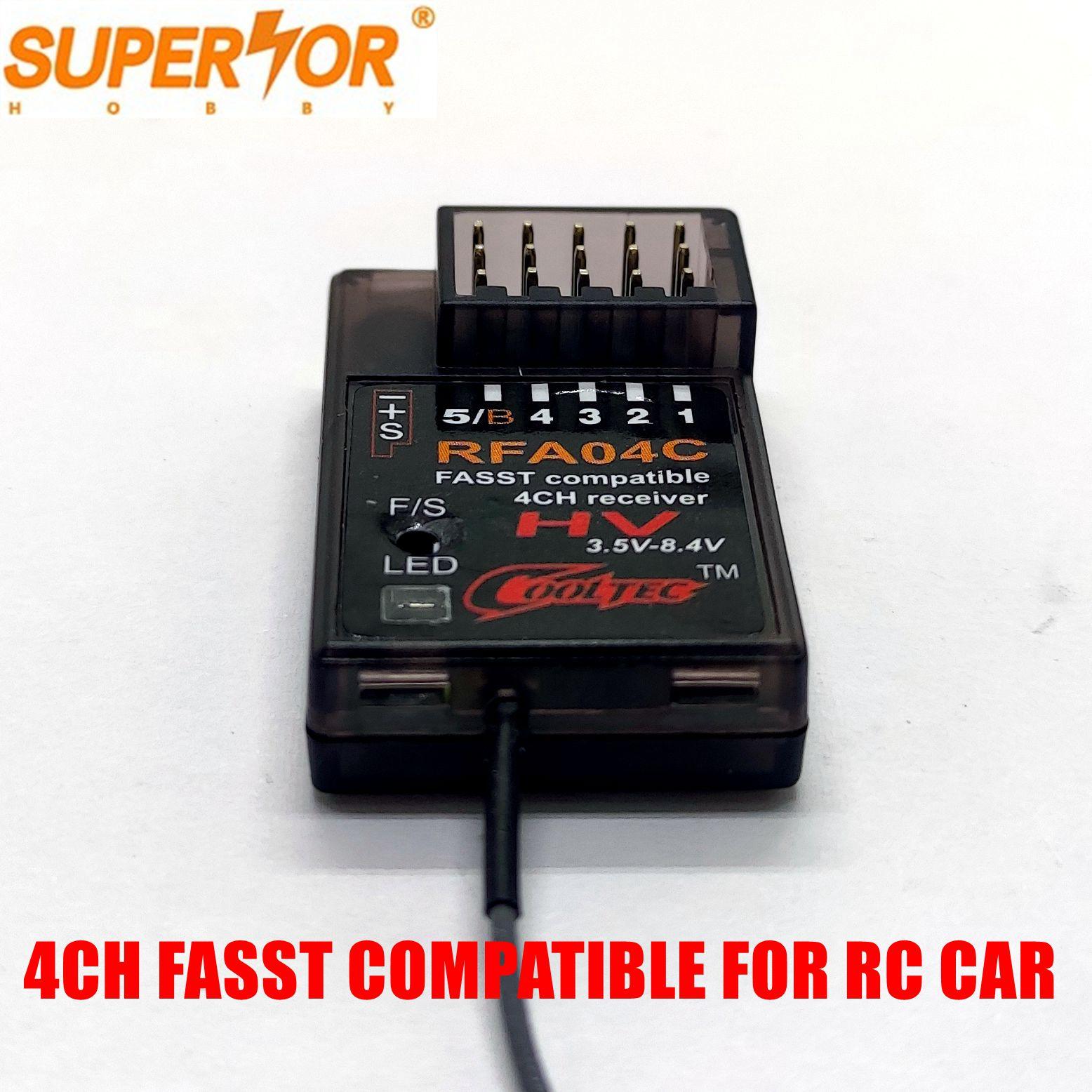 RFA04C Cooltech 4 канала fasst совместимый приемник для Futaba 3PK 4PK RC автомобиль модель поверхности системы C1 режим