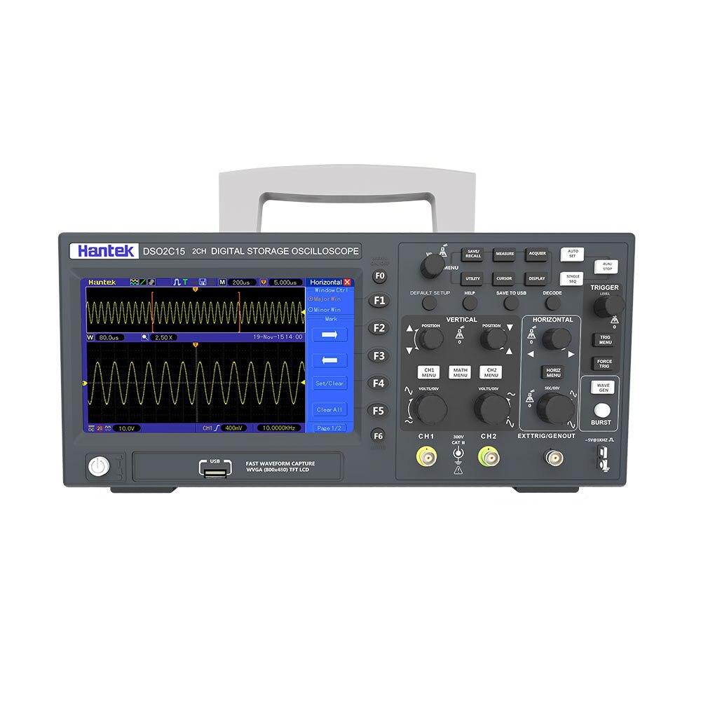 Предварительная продажа Hantek цифровой Osciiloscope DSO2C10 2C15 2D10 2D15 2 Каналы 100 МГц/150 МГц хранения Osciloscopio 1GSa/s частота дискретизации
