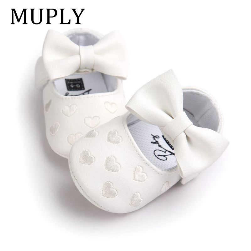 Mocasines de piel sintética para bebé, niño y niña, mocasines para bebé, zapatos Moccs, franja de arco, suela blanda, zapatos calzado de cuna antideslizante