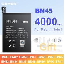 NOHON BN45 BM47 BM46 BN41 BM45 BN35 BN46 BM4A BP40 BP41 batteria per Xiaomi Redmi K20 Pro 3 3X 3S 4 4X 5A 5 Plus nota 2 3 4 4X 5