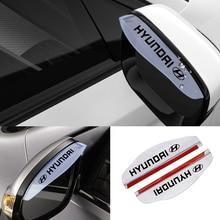 Rain-Blade Hyundai Creta Car-Rearview-Mirror Eyebrow Solaris Sonata Santa 2pcs PVC