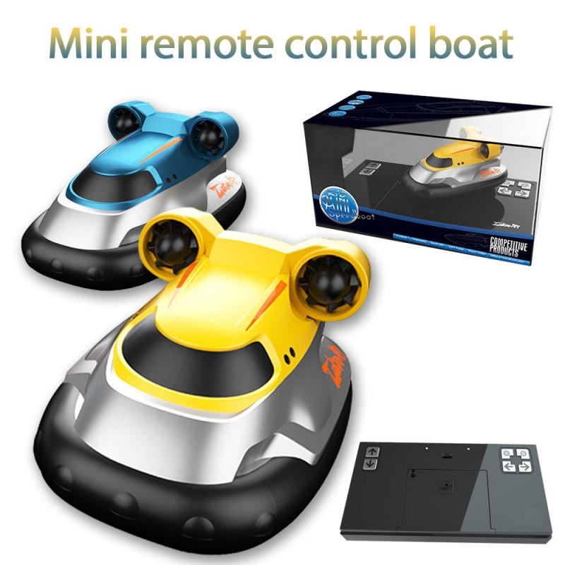 RC Boats 2.4G Wireless Mini Hovercraft Toy Child Boys Water Electric Remote Control Boat Speedboat Sailing Model