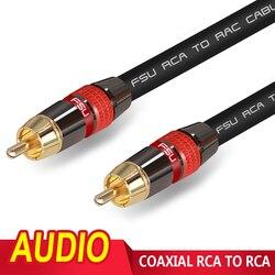 RCA-кабель Hi-Fi для мужчин, аудио-и видеокабель, сплиттер, стерео для аудио, домашнего кинотеатра, DVD ТВ-усилителя, CD Soundbox 1 м, 2 м, 3 м, 5 м