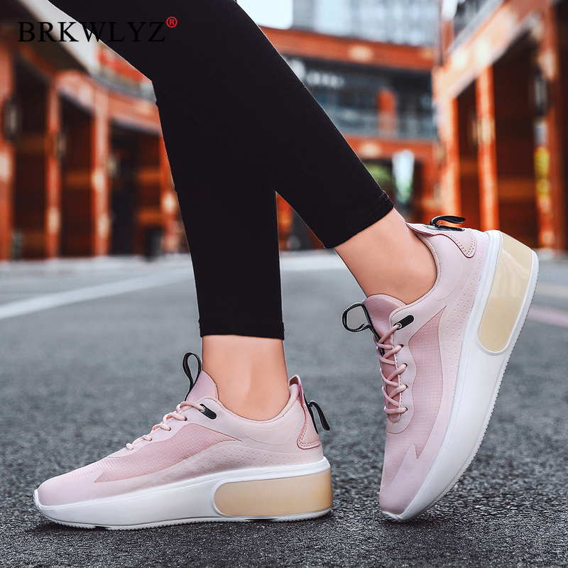 wedge women shoes fashion pink high