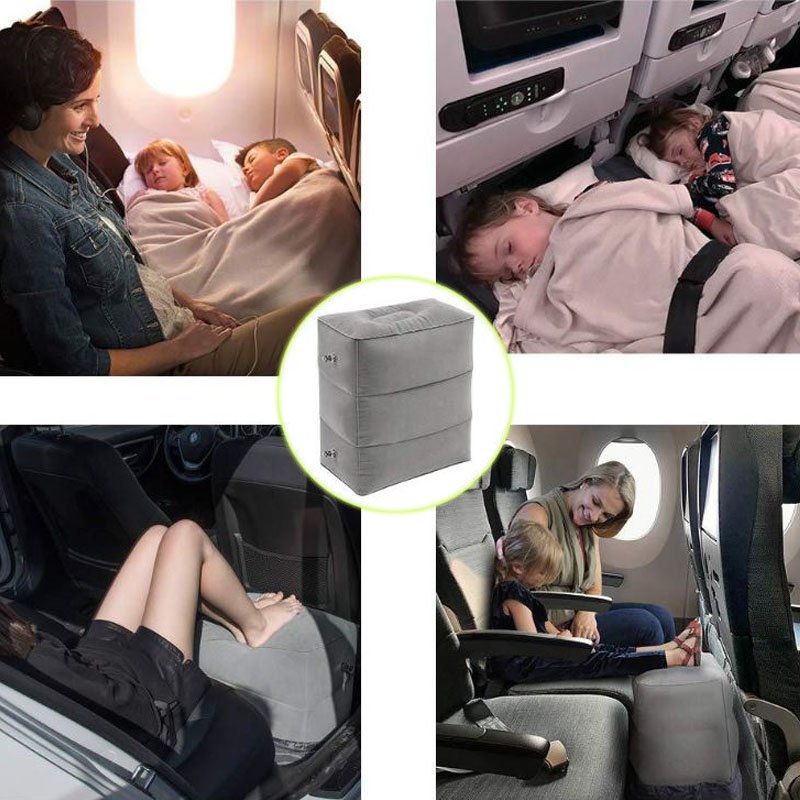 Inflatable Rest Foot Travel Pillow Kids Sleeping Adult Foot Leg Relax Portable Office Household Travel Car Pillow On Plane Train