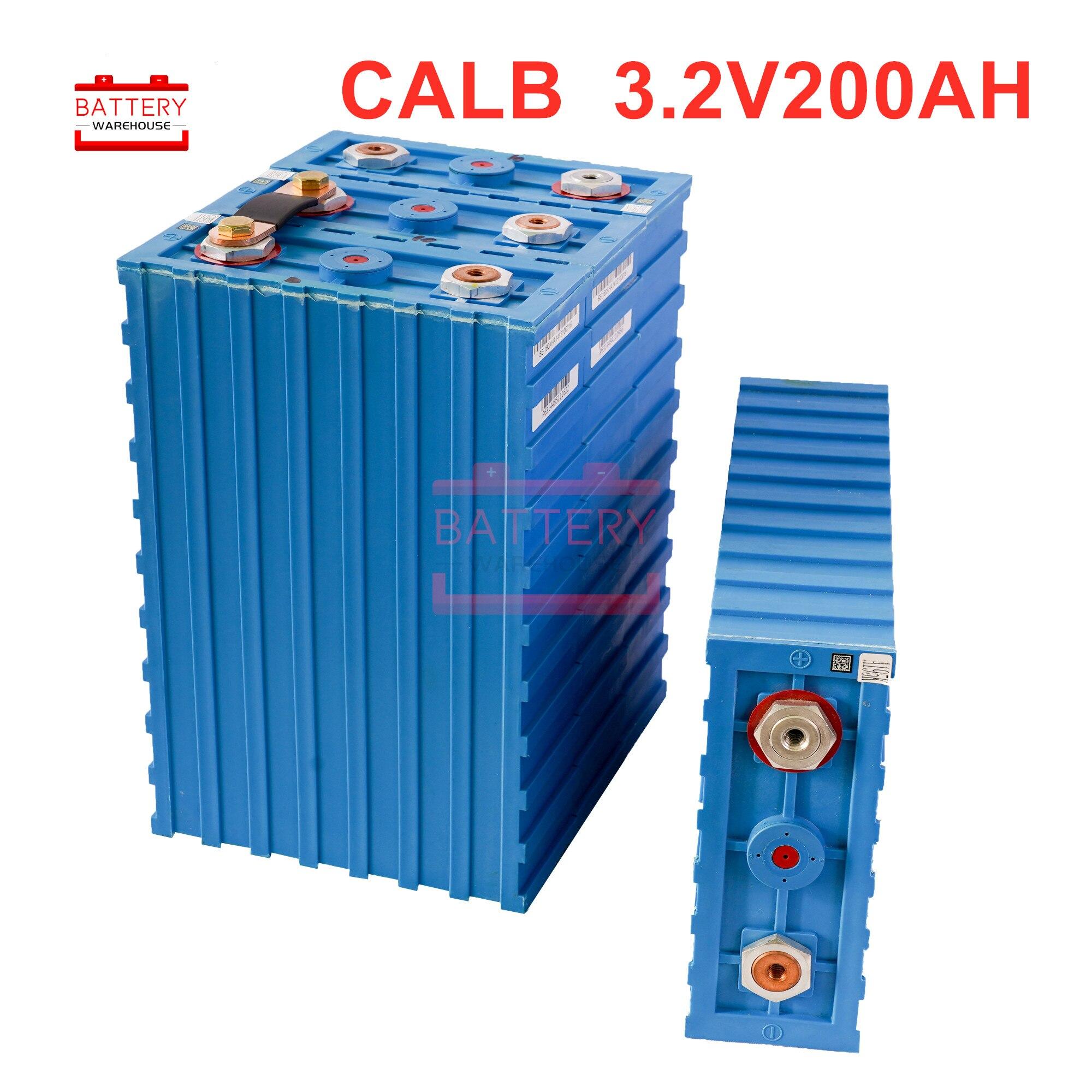 4 pièces 3.2V200ah cellule nouvelle CALB SE200FI plastique LiFePO4 Batteries rechargeables 12v 24V pour pack EV batterie solaire US ue AU sans taxe