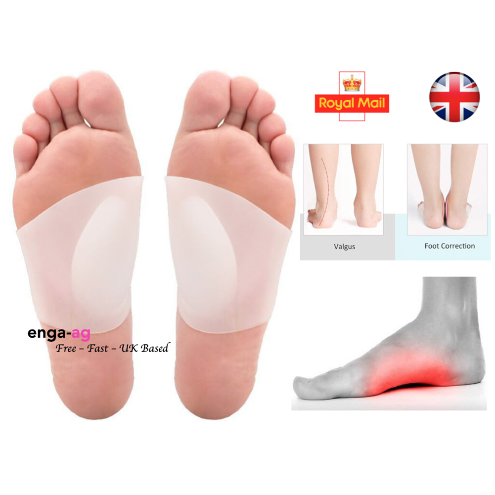 2PCS Shoe Inserts Massage Bandage Design Soft Silicone Ergonomic Protection Insoles Health Care Arch Support Pain Relief