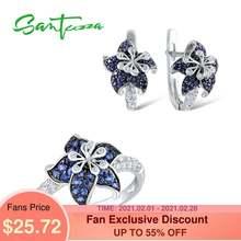 Женский комплект украшений santuzza кольцо и сережки из серебра