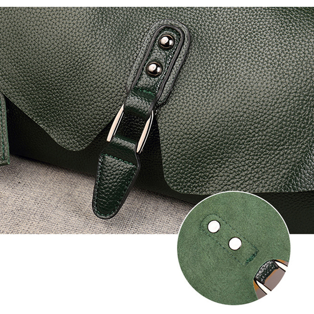 Women's Shoulder Bags High Quality 100% genuine Leather Handbags Tote All-match Crossbody Top-handle Bags Shell Messenger Bag 5