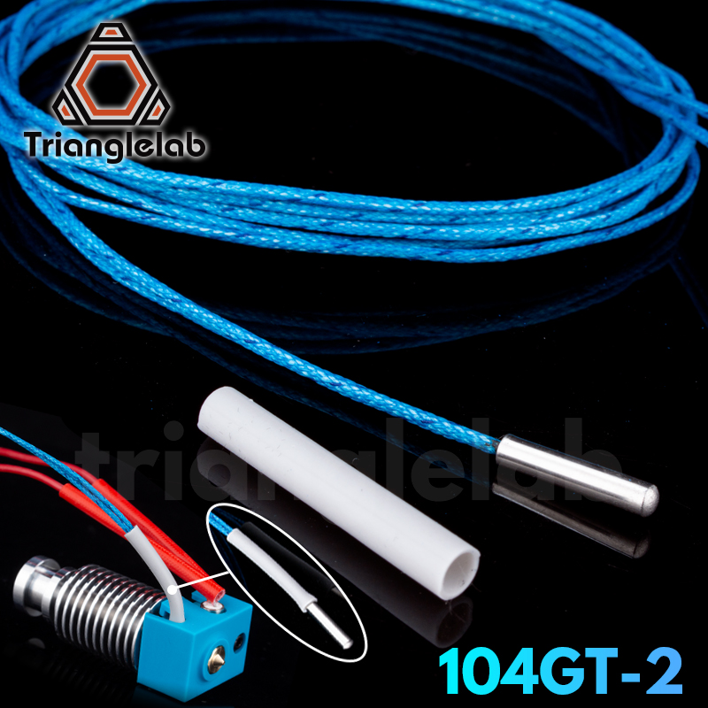 Trianglelab ATC Semitec 104GT-2 104NT-4-R025H42G Thermistor Cartridge High Temperature 280℃ For E3D V6 Volcano  Heater Block