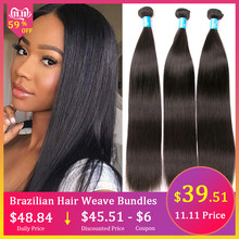 Amanda Straight Brazilian Hair Weave Bundles Middle Ratio Remy 100% Human Hair 3/4 Bundles Deals Hair Extensions 8-28 Inches(China)