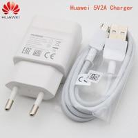 Original huawei 5V 2A Ladegerät Power Adapter micro usb cable für huawei p8 lite y6 2018 mate 7 8/9 lite/10 lite honor 9i p smart