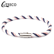 CUTEECO Couple hand rope male and female braided bracelet leather couple fashion student ornaments