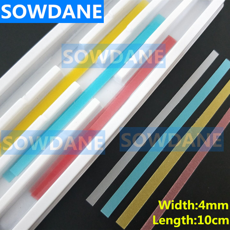 80 Pcs Set Of 4mm Width Dental Polyester Polishing Stick Strip With Single Side Polishing Side Polystrips Whitening Material