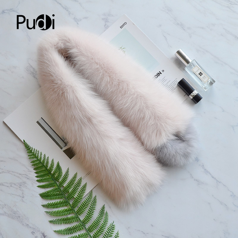 Pudi SF820 genuine fox fur scarf wrap shawl 2020 new patchwork real fox fur pashmina scarves shawls wraps